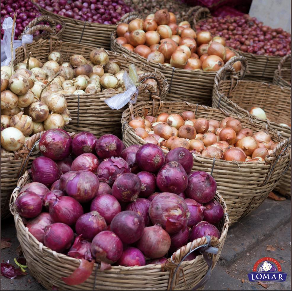 Mercado global de la cebolla